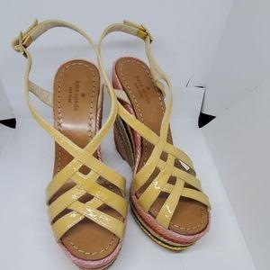 Kate Spade rainbow espadrille wedge sandals 5.5